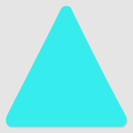 Turquoise Triangle Sticker