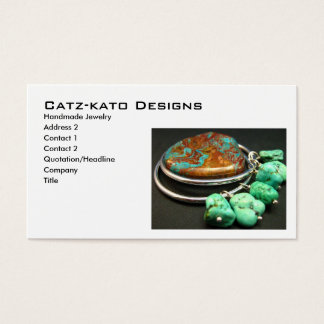 Turquoise Stone Earrings Business Card