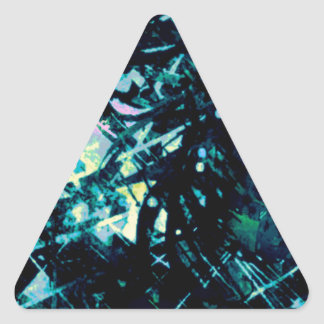 Turquoise Storm Triangle Sticker