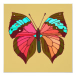 Turquoise Striped Butterfly Card