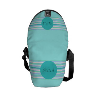 Turquoise Stripes Courier Bag