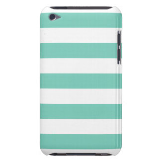 Turquoise Stripes Pattern iPod Case-Mate Cases