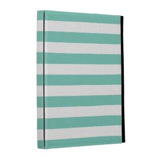 Turquoise Stripes Pattern iPad Folio Cases