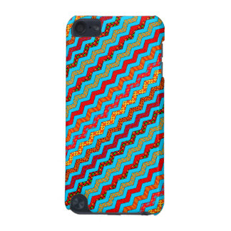 Turquoise Stripes Zig Zag Geometric Designs Color iPod Touch 5G Case