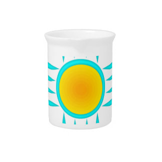 Turquoise Sun God Drink Pitcher