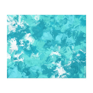 Turquoise Swirl Abstract Art Canvas
