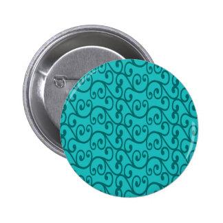 Turquoise swirls 2 inch round button