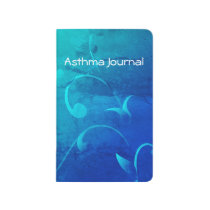 Turquoise Swirls Asthma Journal
