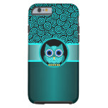 turquoise swirls pattern with owl iPhone 6 case