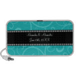 Turquoise swirls wedding favors notebook speakers