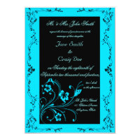 Turquoise Swirls Wedding Invitations (<em>$2.01</em>)