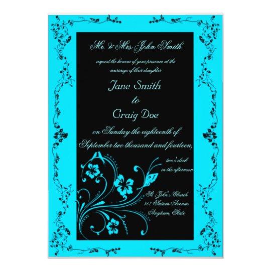 Wedding Invitations Turquoise: Turquoise Swirls Wedding Invitations