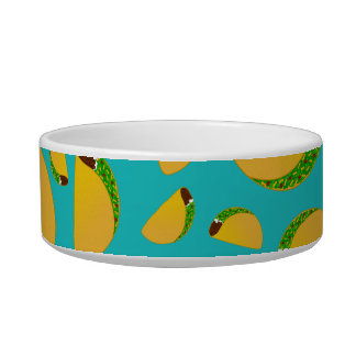 Turquoise tacos cat water bowls