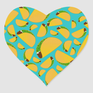 Turquoise tacos heart sticker