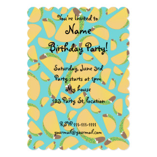 Turquoise tacos personalized announcements