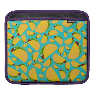 Turquoise tacos iPad sleeve