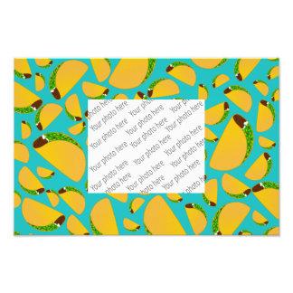 Turquoise tacos photo print