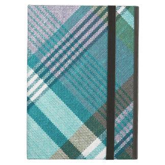 Turquoise Tartan Plaid iPad Air Cover