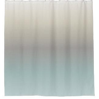 Turquoise Taupe Cream Gradient Shower Curtain