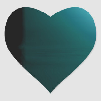 Turquoise Teal 3D Design Customizable Products Heart Sticker