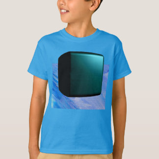 Turquoise Teal 3D Design Customizable Tshirt 3
