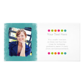 Turquoise Teal Blue Sponge Photo Frame Photo Cards