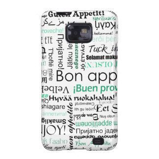 Turquoise Teal Bon appetit in other languages Galaxy SII Case