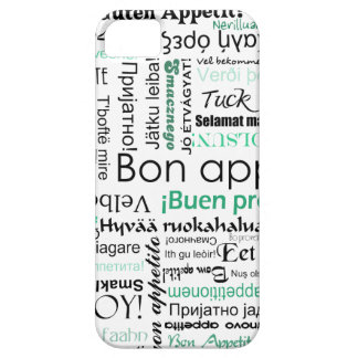 Turquoise Teal Bon appetit in other languages iPhone SE/5/5s Case