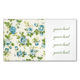 turquoise,teal,floral vintage,victorian,grunge,rus magnetic business card