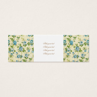 turquoise,teal,floral vintage,victorian,grunge,rus mini business card