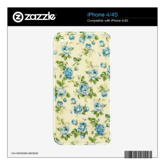 turquoise,teal,floral vintage,victorian,grunge, iPhone 4S skins