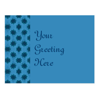 Turquoise Teal Flower Pattern Postcard