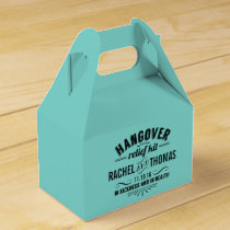 Turquoise Teal Hangover Relief Kit Favor Box