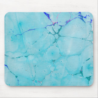 Turquoise Teal Marble Paint Abstract Watercolor Mouse Pad