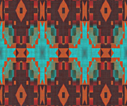 Turquoise Teal Pattern Poster