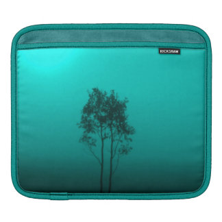 Turquoise Teal Peacock Trees Sunrise Nature Photo Sleeves For iPads