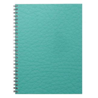 Turquoise Teal Retro Trendy Custom Leather Notebook