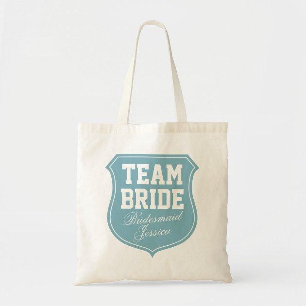 Team Bride Bridal Party Shopping Tote Bag