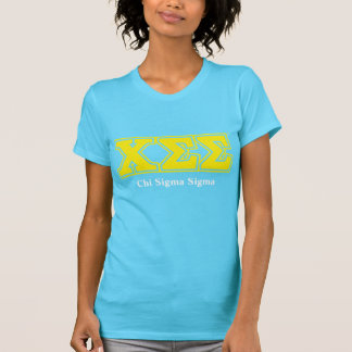 Turquoise Tee with Yellow Letters