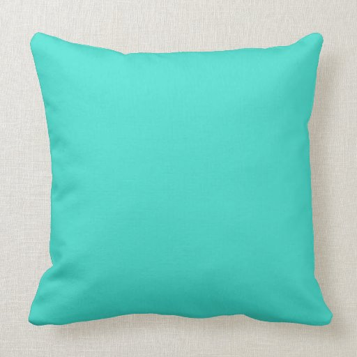 Turquoise throw pillows zazzle for Turquoise couch pillows