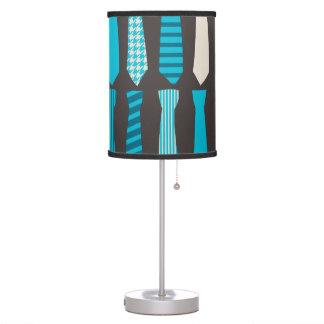 Turquoise TIes Teal Blue Boy Man Tie Print Table Lamp