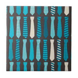 Turquoise TIes Teal Blue Boy Man Tie Print Tile