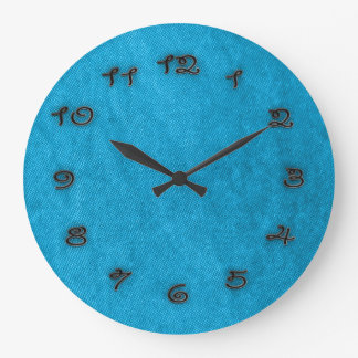 turquoise time large clock