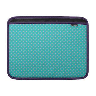 turquoise tiny gray polka dots MacBook air sleeves