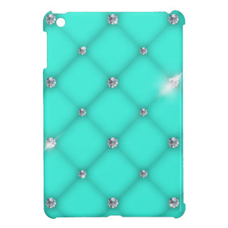 Turquoise to leather upholstery with diamonds iPad mini case