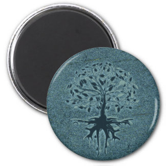 Turquoise Tree of Life 2 Inch Round Magnet