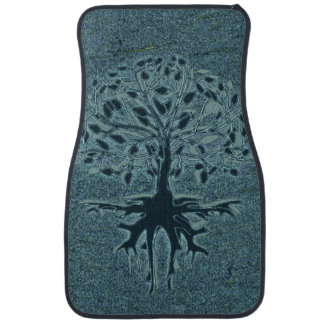 Turquoise Tree of Life Car Floor Mat
