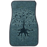 Turquoise Tree of Life Car Mat