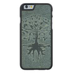 Turquoise Tree Of Life Carved Maple Iphone 6 Slim Case at Zazzle