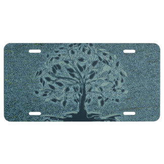 Turquoise Tree of Life License Plate